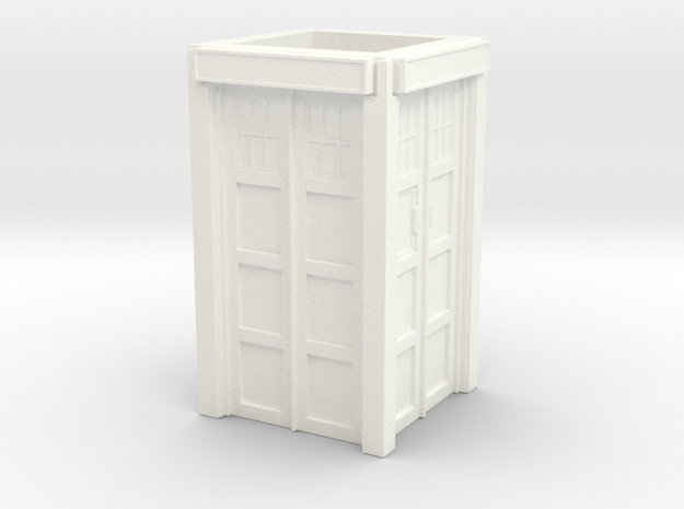The Physician's Blue Box in 1/35 scale (walls only in White Processed Versatile Plastic