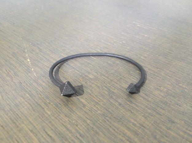 Cuff Bracelet with Geometric Pyramids