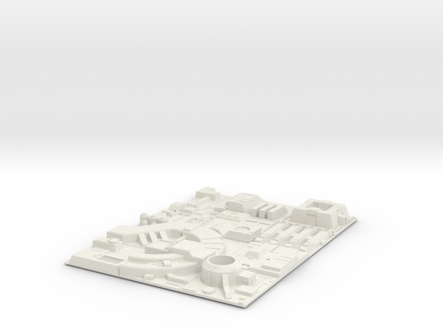 1/1000 Death Star Tiles in White Natural Versatile Plastic