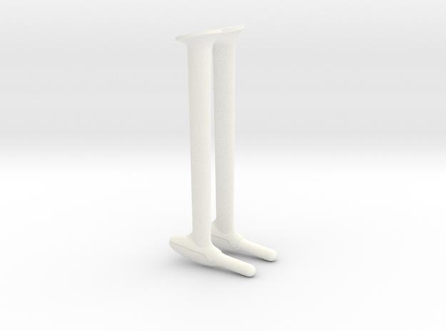 Pitot in White Processed Versatile Plastic