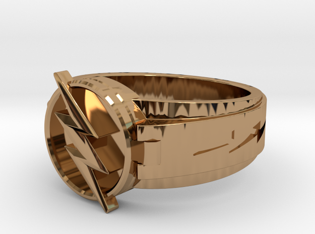 V3 Reverse Size 8.5 18.6mm in Polished Brass