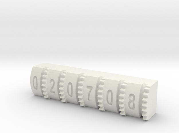 Hengstler Counter Number Roller #'s 020708 in White Strong & Flexible