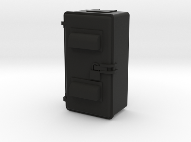 Relay Cab 1.stl in Black Strong & Flexible