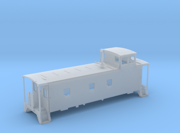 HO scale DRGW 01469-  caboose  in Frosted Ultra Detail