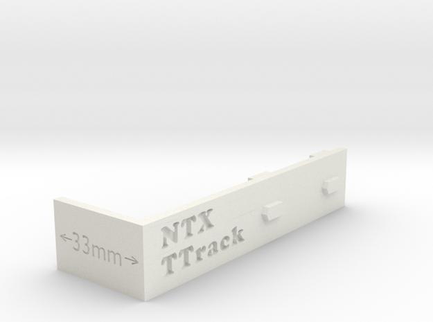 Ttrack Gauge in White Natural Versatile Plastic