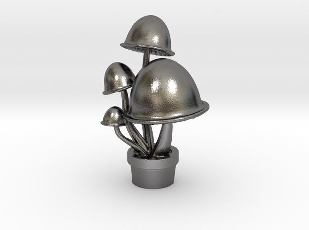 Mushroom Pendant in Polished Nickel Steel