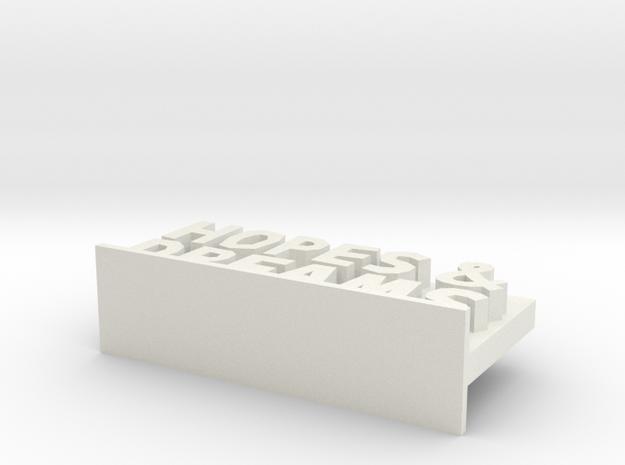 Hopes & Dreams in White Natural Versatile Plastic