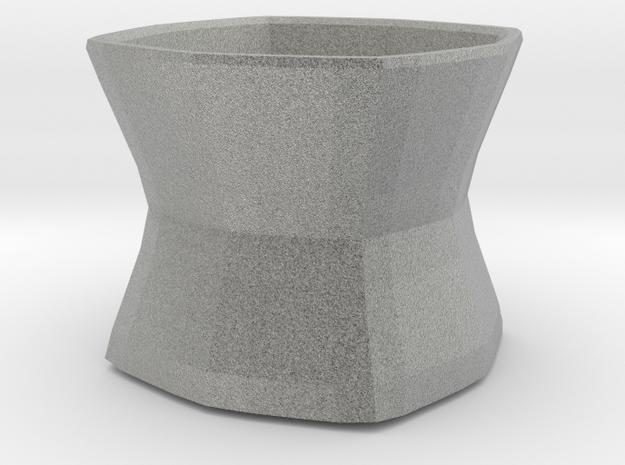 Chalice multipurpose container in Metallic Plastic
