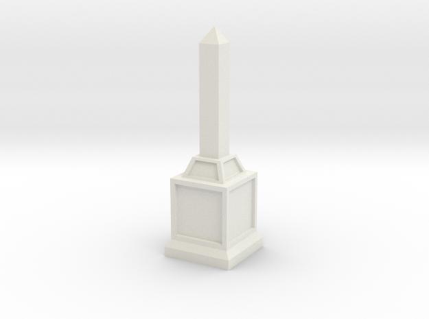 Obelisk of Victory in White Natural Versatile Plastic