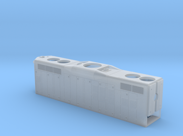 Rail Link GP10 Hood, Blanked DB 1/87.1 in Smoothest Fine Detail Plastic