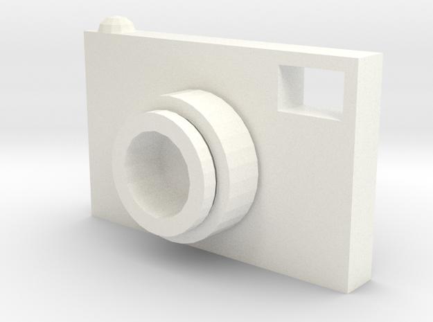 Camera Bag Name Tag in White Processed Versatile Plastic