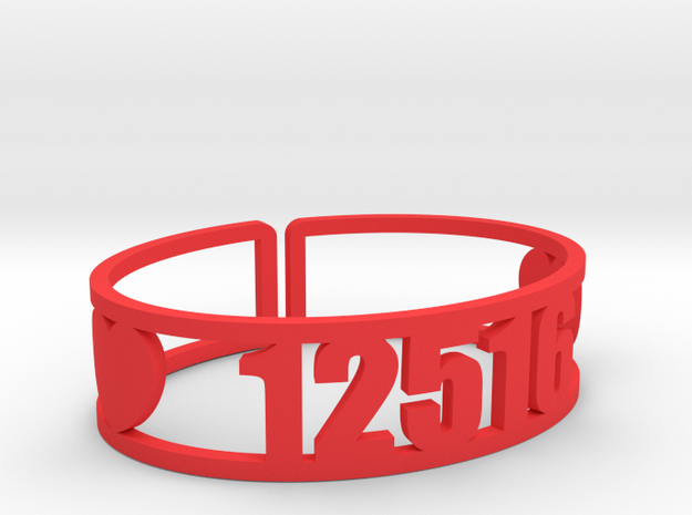 Pontiac Zip Cuff in Red Processed Versatile Plastic