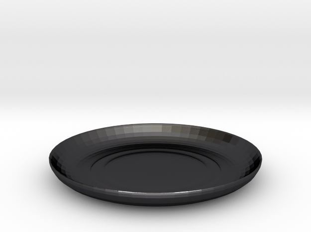 Shibori Maki Plate in Polished and Bronzed Black Steel