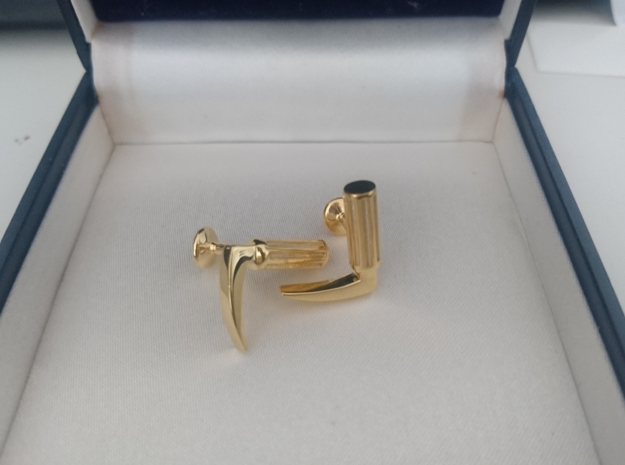 Laryngoscope cufflinks in Polished Silver