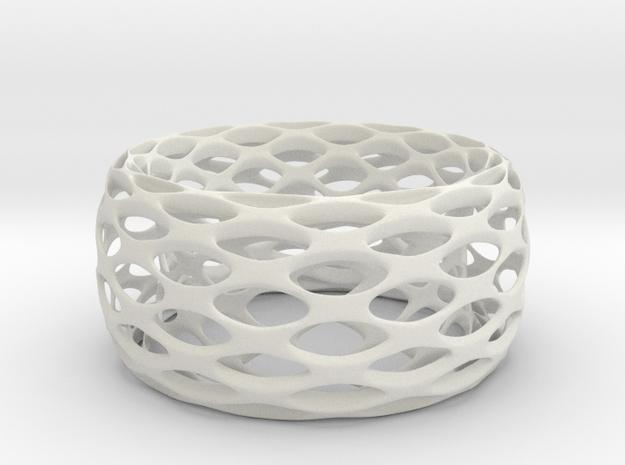 Portofino Bracelet in White Natural Versatile Plastic