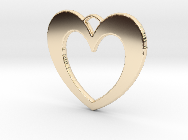 Heart Pendant in 14k Gold Plated