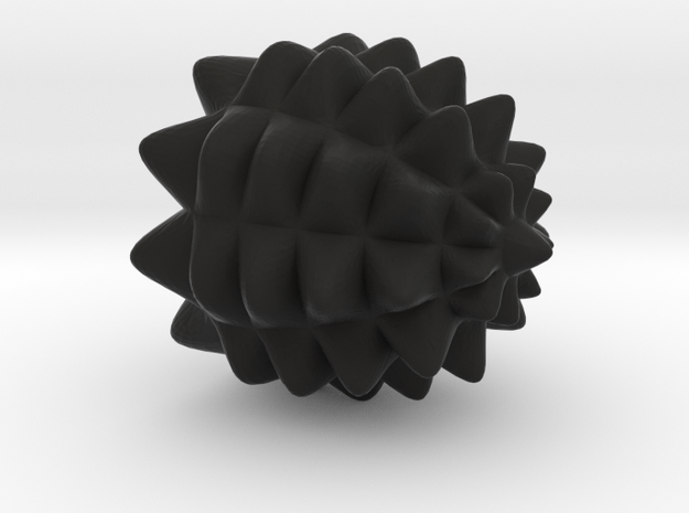 Pine Cone Tire Air Cap in Black Natural Versatile Plastic