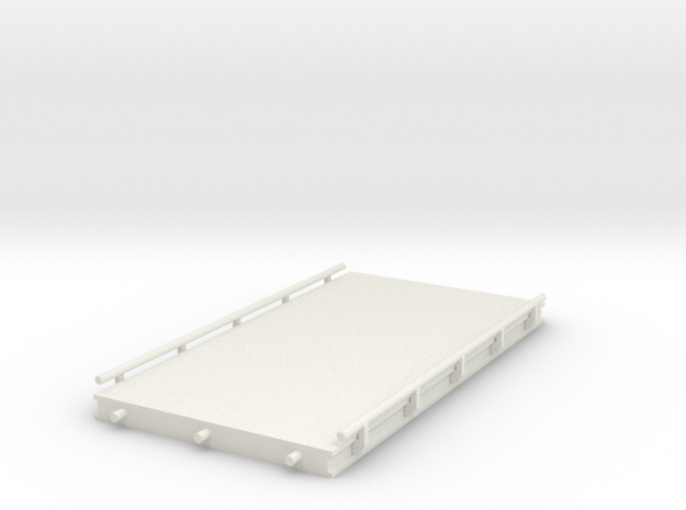 1/64 20' Truck scale section in White Natural Versatile Plastic