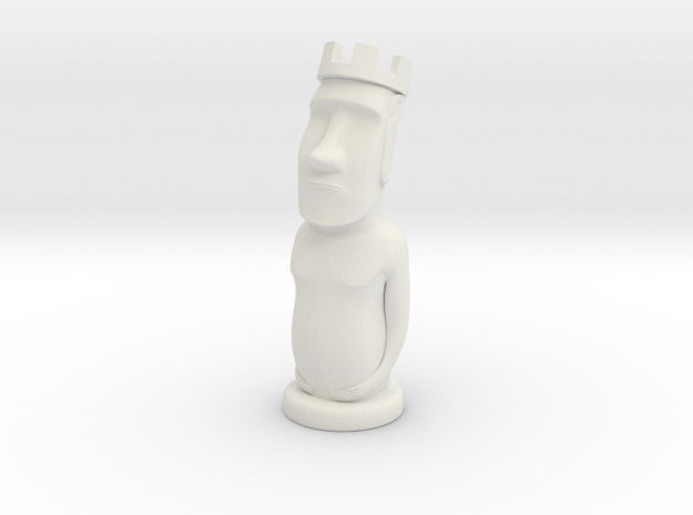 Moai Rook in White Natural Versatile Plastic