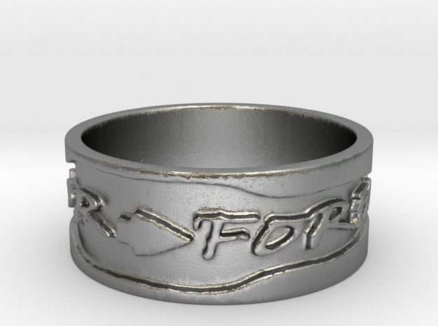 Warrior Forever Ring (Size 4) in Raw Silver