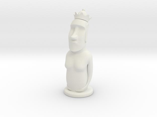 Moai Queen in White Natural Versatile Plastic