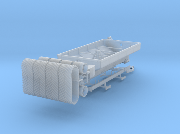 1/64 Grain Cart 2 axle with tracks in Smooth Fine Detail Plastic