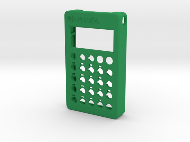 PO-12 case front in Green Processed Versatile Plastic