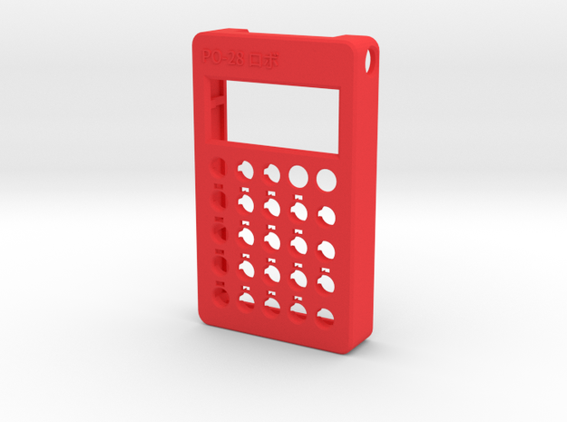 PO-28 case front in Red Processed Versatile Plastic