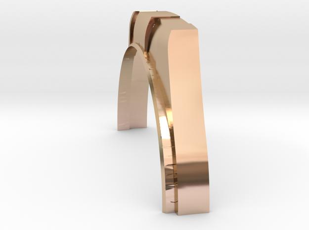 Rolex 70mm Air Gauge Cover Accuair ExoMounts Half  in 14k Rose Gold
