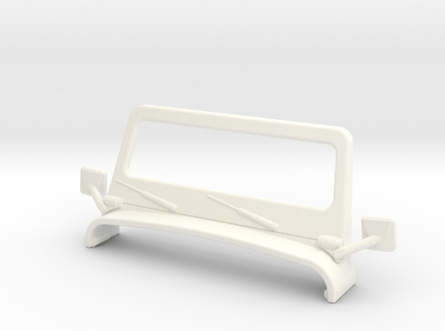 M.A.S.K. Gator Windscreen And Mirrors in White Strong & Flexible Polished