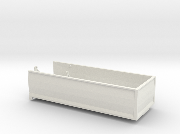MA22 Bed in White Natural Versatile Plastic: 1:64
