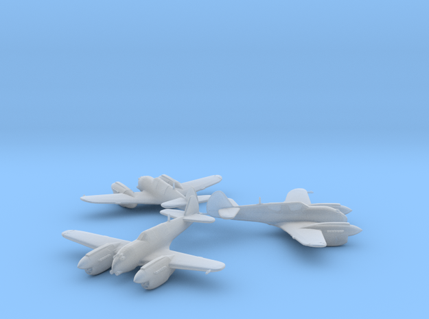 Curtiss P-40 Twin (Proposed) 1:200 x3 HDA in Smooth Fine Detail Plastic