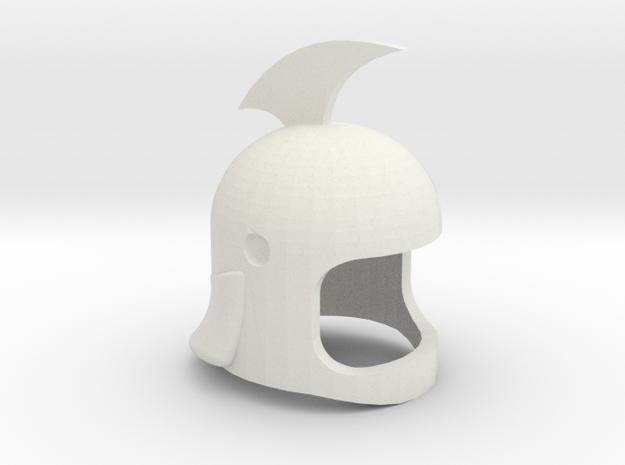 Helmet Grandizer V.39 in White Natural Versatile Plastic