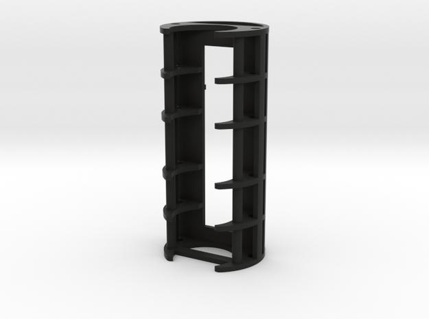 "1.24"" 18650/Nano Biscotte Holder in Black Natural Versatile Plastic"