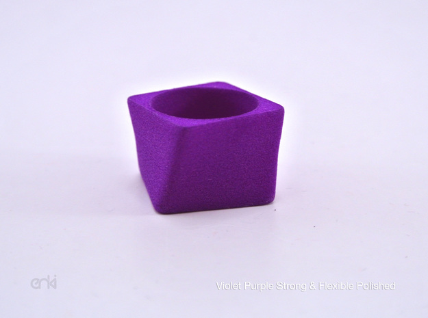 Twisted Cube - Ring - size54 - diam17,2mm 3d printed