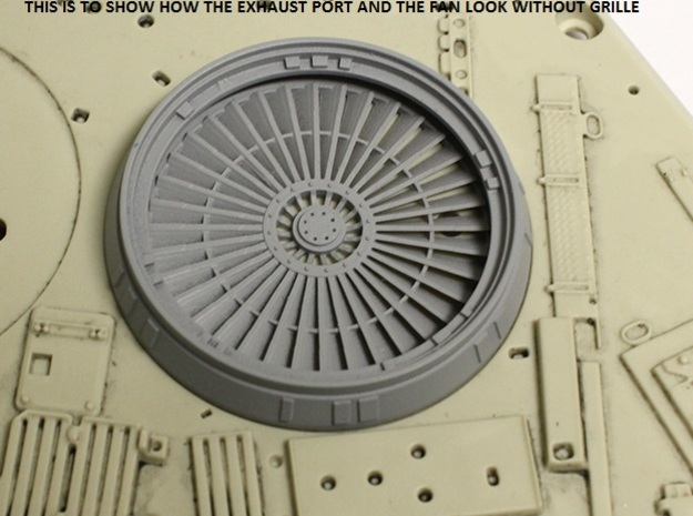 Fan for Exhaust Port for deAgostini Falcon in Smooth Fine Detail Plastic