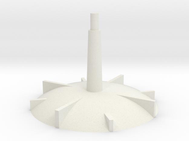 Base - short stem in White Natural Versatile Plastic