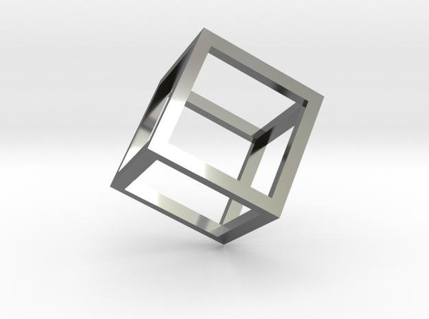 Cube Outline Pendant