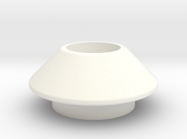 DS Emitter Base in White Processed Versatile Plastic