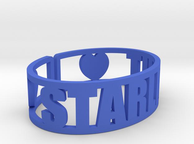 Starlight Cuff in Blue Processed Versatile Plastic