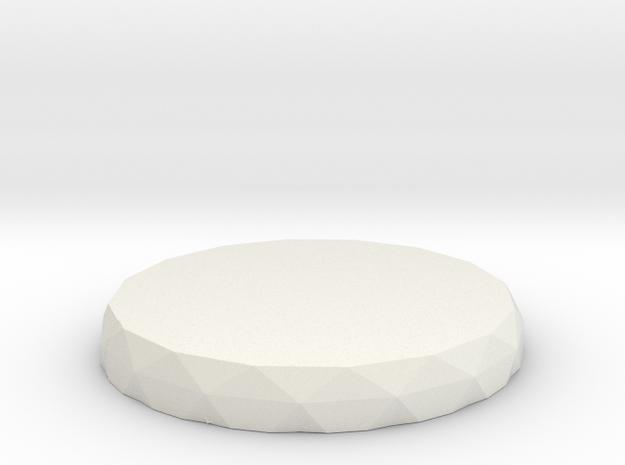 Singular Warp Pad - Coaster in White Strong & Flexible