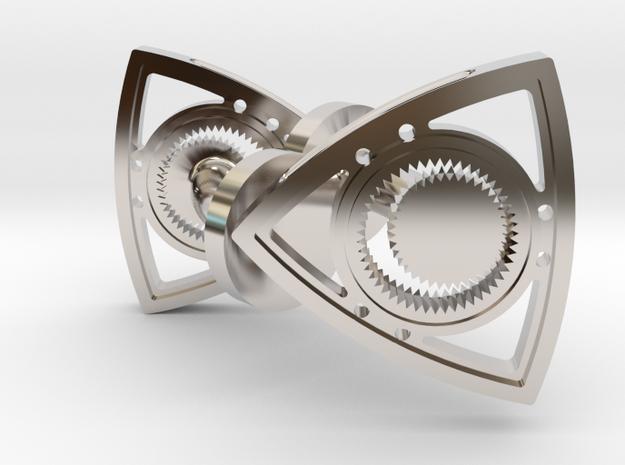 Rotary Engine Cufflinks in Rhodium Plated