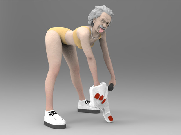 Twerking Einstein 3d printed