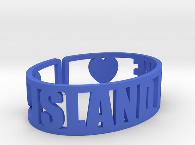 Island Lake Cuff in Blue Processed Versatile Plastic