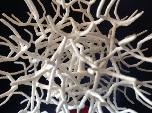 Sphere Tree 12cm (Irregular 3 with noise) 3d printed Close Up