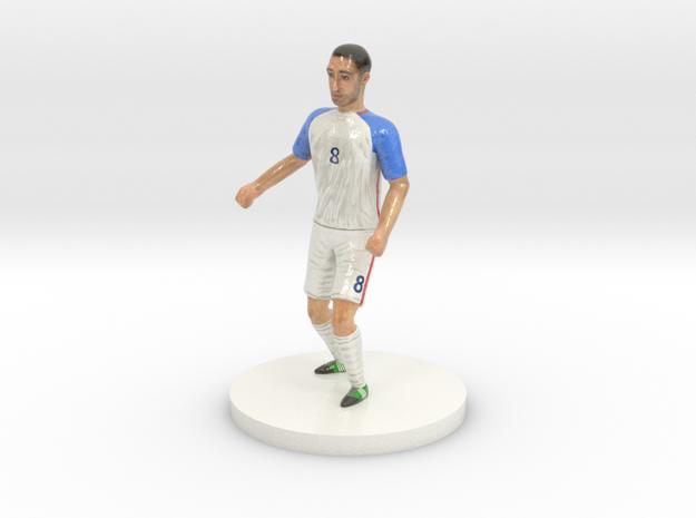 US Soccer Player in Glossy Full Color Sandstone