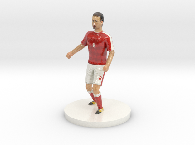 Swiss Football Player in Glossy Full Color Sandstone