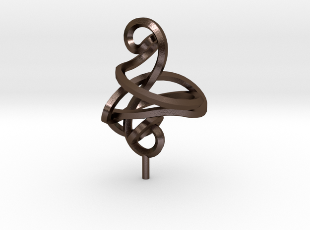 Twisted Cleff Sculpture. 3d printed