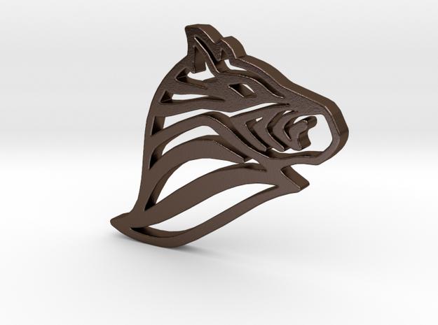 Zebra in Polished Bronze Steel