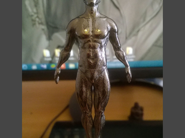 Hanging Man Pendant 3 inch height in Polished Silver
